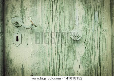 rustic old retro green wooden textured background