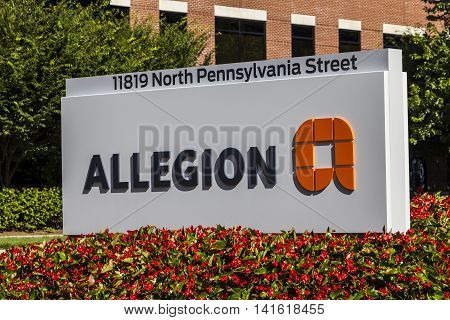 Carmel - Circa August 2016: Allegion Americas Headquarters. Allegion is a provider of security products I