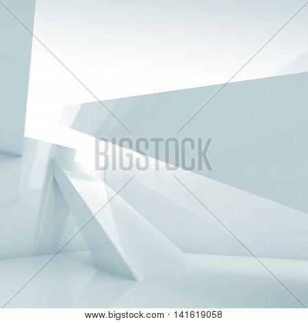 Abstract 3 D Empty Interior Square Background