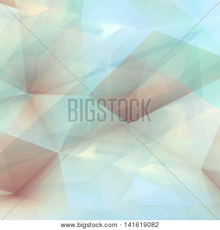 Abstract Digital 3D Polygonal Background, Square