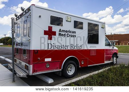Indianapolis - Circa August 2016: American Red Cross Diaster Relief Van. The American National Red Cross provides emergency assistance and disaster relief III
