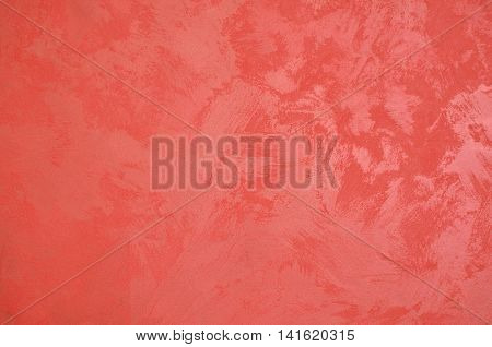 Background of red roan painted wall surface