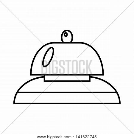Call at reception icon in outline style isolated on white background. Bell symbol