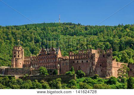 Heidelberg red castle in Baden Würtemberg, Germany