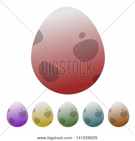 Egg dinosaur icon colorful vector illustration different
