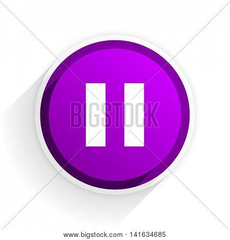 pause flat icon