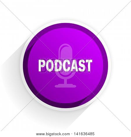 podcast flat icon