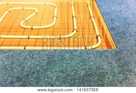 Contour of heat-insulated floor