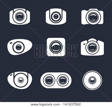 set of light icon camera and mobile lens