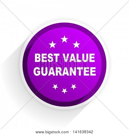 best value guarantee flat icon