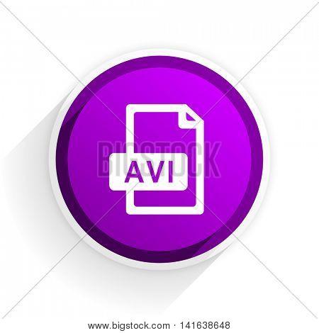 avi file flat icon