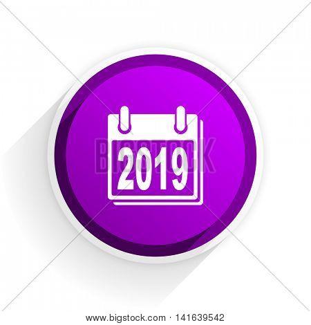 new year 2019 flat icon