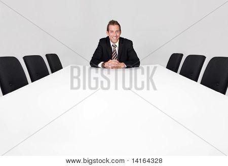 Businessman sitting alone