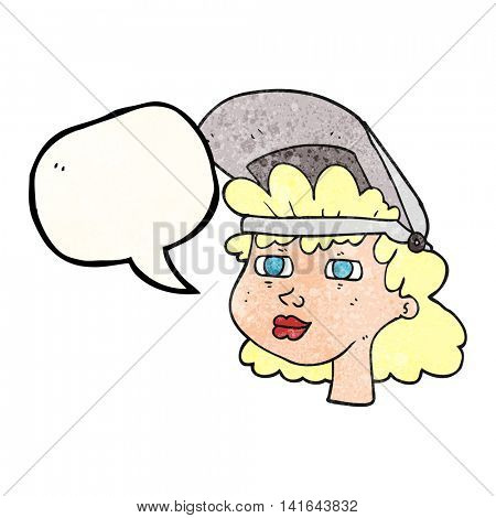 freehand speech bubble textured freehand speech bubble textured freehand speech bubble textured cartoon woman with welding mask