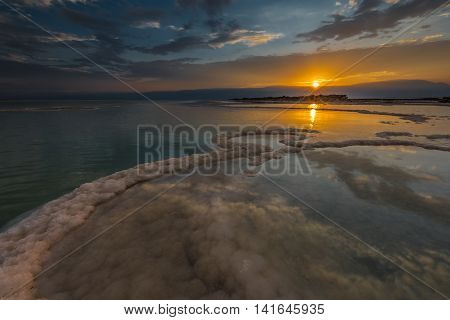 Sodom Gomorrah sunrise... Photographed at Dead sea, the lowest place on the Earth minus 423 m,  minus 1,388 ft.