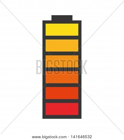 battery power energy technology icon. Isolated and flat illustration. Vector graphic