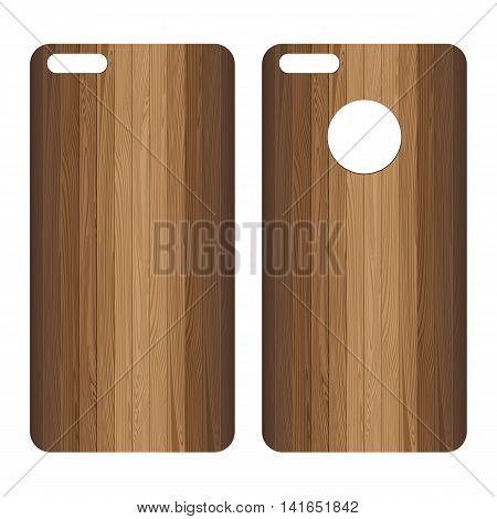 Phone case. Lath boards on white background.