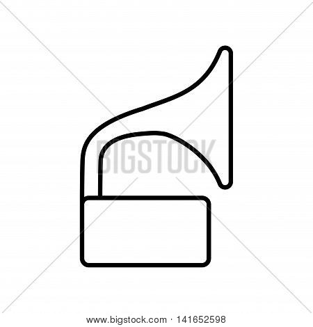 gramaphone music melody sound icon. Isolated and flat illustration. Vector graphic