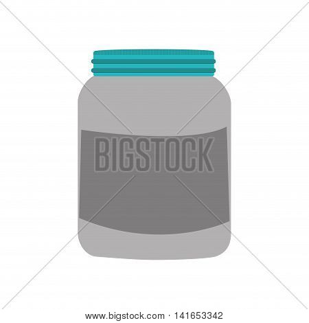 protein fitness healthy lifestyle icon. Isolated and flat illustration. Vector graphic