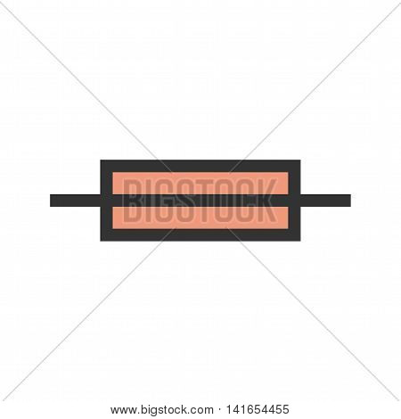 Fuse, box, electric icon vector image. Can also be used for electric circuits. Suitable for use on web apps, mobile apps and print media.