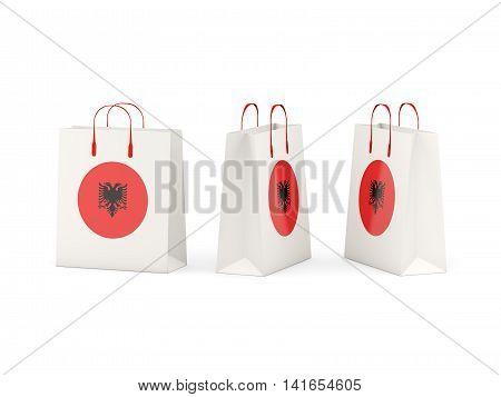 Flag Of Albania On Shopping Bags