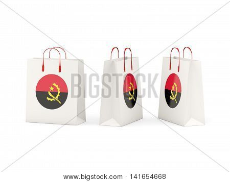 Flag Of Angola On Shopping Bags