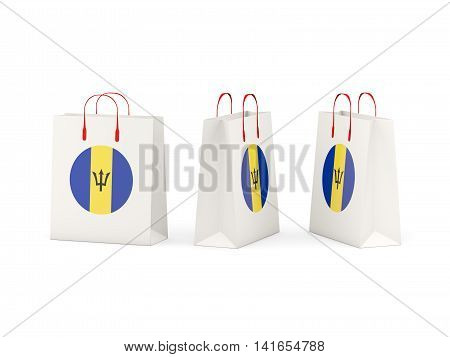 Flag Of Barbados On Shopping Bags