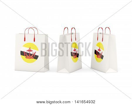 Flag Of Brunei On Shopping Bags