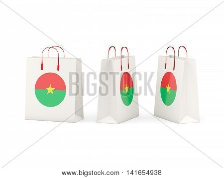 Flag Of Burkina Faso On Shopping Bags