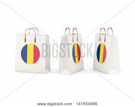 Flag Of Chad On Shopping Bags