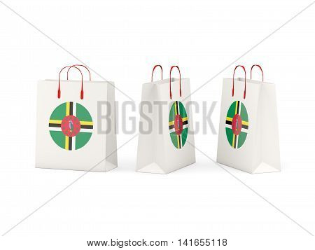 Flag Of Dominica On Shopping Bags