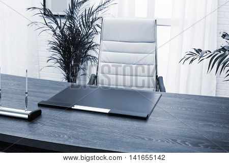 modern desk manager in a modern office