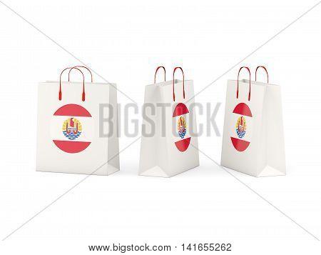 Flag Of French Polynesia On Shopping Bags