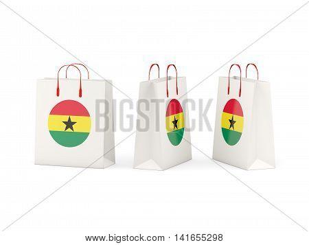 Flag Of Ghana On Shopping Bags