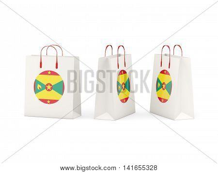 Flag Of Grenada On Shopping Bags