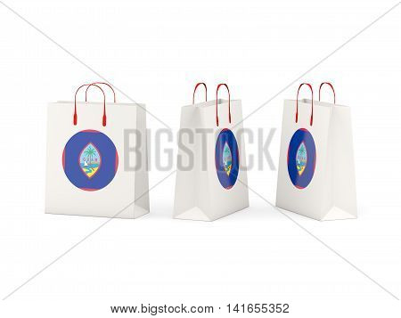 Flag Of Guam On Shopping Bags