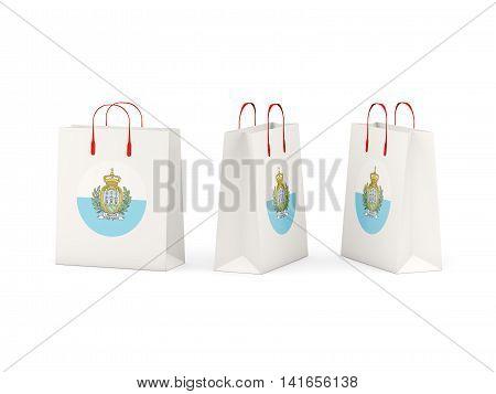 Flag Of San Marino On Shopping Bags