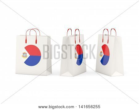 Flag Of Sint Maarten On Shopping Bags