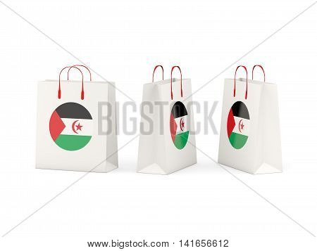 Flag Of Western Sahara On Shopping Bags