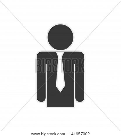 pictogram necktie person people figure icon. Isolated and flat illustration. Vector graphic