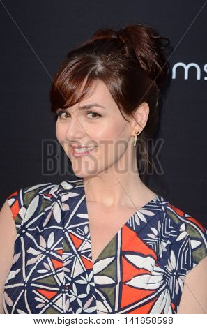 LOS ANGELES - AUG 4:  Sara Rue at the 4Moms launch self-installing car seat at the Petersen Automotive Museum on August 4, 2016 in Los Angeles, CA