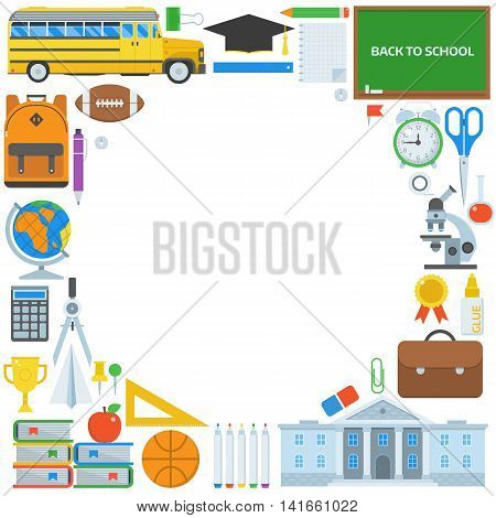 Education Supplies Background