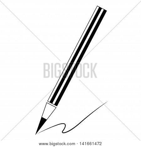 Pencil icon. Pencil symbol for your web site design, logo, app, UI. Vector illustration