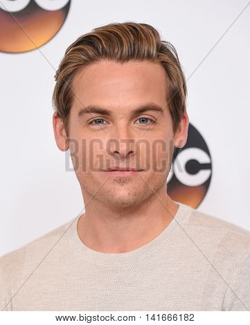 LOS ANGELES - AUG 04:  Kevin Zegers arrives to the ABC TCA Press Party 2016 on August 04, 2016 in Hollywood, CA