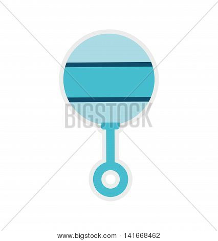 maraca baby shower childhood icon. Isolated and flat illustration. Vector graphic