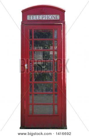 Telephone Box Isolated