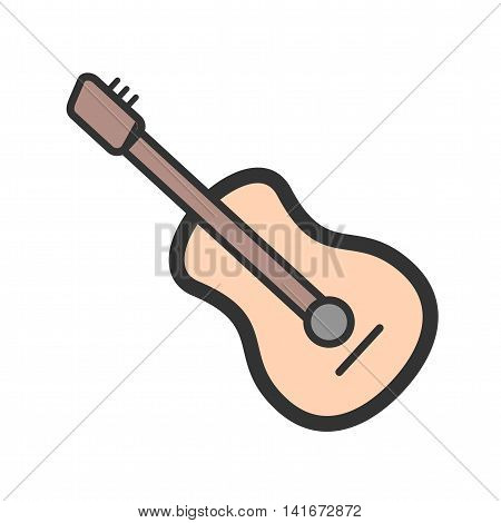 Mic, music, guitar icon vector image. Can also be used for hipster. Suitable for web apps, mobile apps and print media.