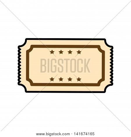 ticket coupon retro vintage icon. Isolated and flat illustration. Vector graphic