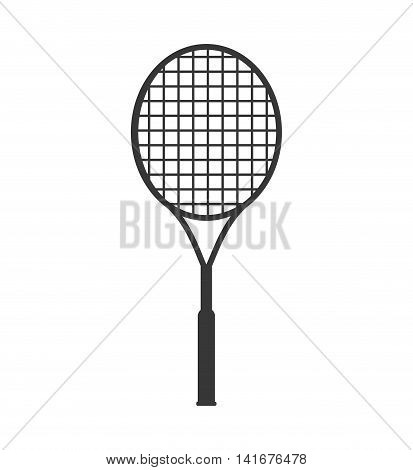 tennis racket hobby sport  icon. Isolated and flat illustration. Vector graphic
