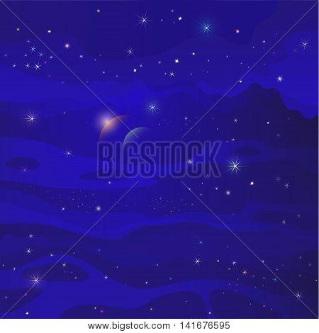 fantastic space star galaxy blue background  galaxy